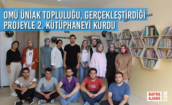 OMÜ ÜniAK Topluluğu, Gerçekleştirdiği Projeyle 2. Kütüphaneyi Kurdu