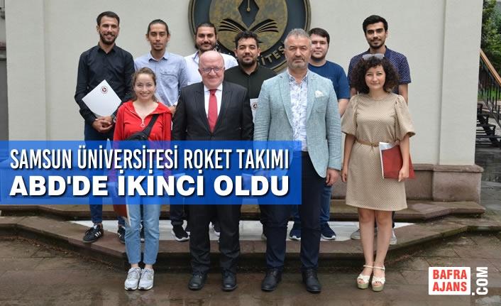Samsun Üniversitesi Roket Takımı ABD'de İkinci Oldu