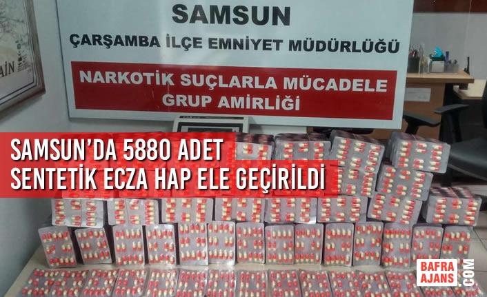 Samsun'da 5880 Adet Sentetik Ecza Hap Ele Geçirildi