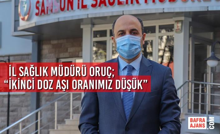 """İl Sağlık Müdürü Oruç; """"İkinci Doz Aşı Oranımız Düşük"""""""