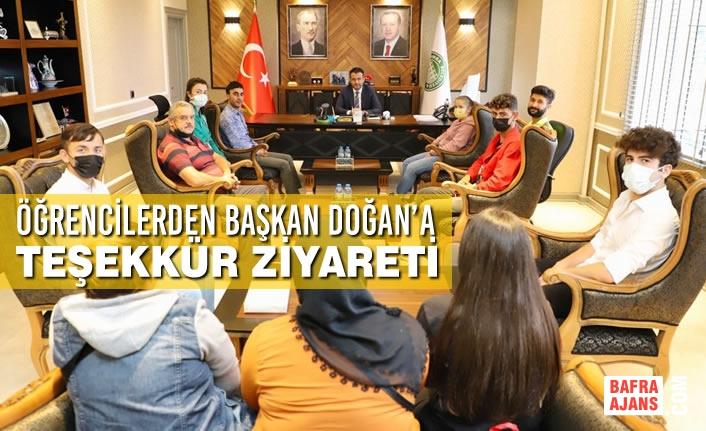 Öğrencilerden Başkan Doğan'a Teşekkür Ziyareti