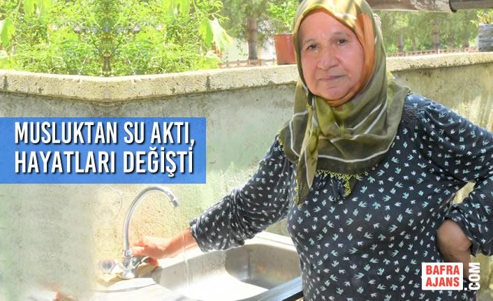 SASKİ Kırsalda Uzun Yıllardır Su Sorunu Yaşayan Mahallelere Su Getirdi