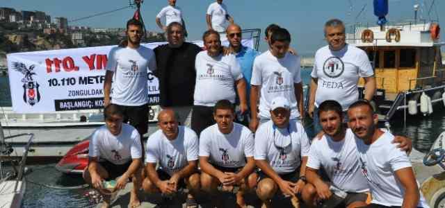 Beşiktaş'ın 110. Kuruluş Yıl Dönümü İçin Yüzme Yarışması Düzenlendi