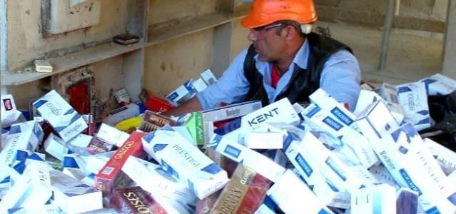 Jandarma 160 Bin Karton Gümrük Kaçağı Sigarayı İmha Etti