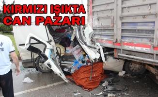 Samsun'da Minibüs Tıra Çarptı: 1 Ölü, 9 Yaralı