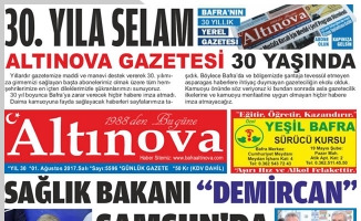 Bafra'nın Gözde Gazetesi Altınova 30 Yaşında