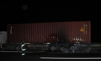 Düzce'de araç yangını