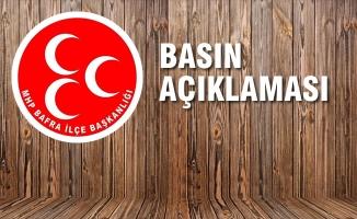 MHP Bafra İlçe Başkanlığından Milletimize Açıklama