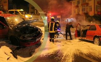 Seyir Haindeki Otomobilde Çıkan Yangın Korkuttu