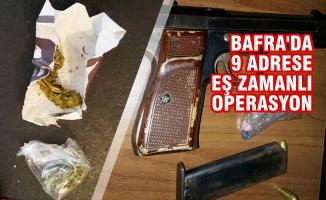Bafra'da Eş Zamanlı Uyuşturucu Operasyonu