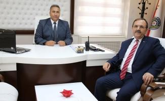 Başkan Şahin; İlçe Emniyet Müdürü Demirci'yi Ziyaret Etti