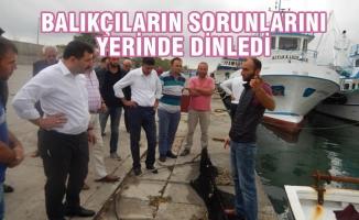 Hasan Basri Kurt, Dereköy'de Balıkçıların Sorunlarını Dinledi