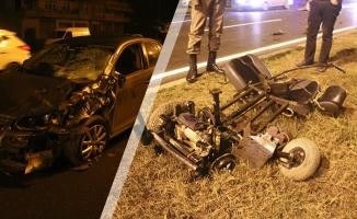 Otomobilin Çarptığı Engelli Yaşamını Yitirdi