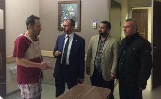 Milletvekili Kırcalı; Gazeteci Ünlü'yü Ziyaret Etti