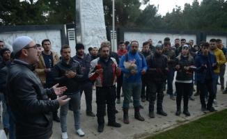 Afrin şehitleri için saygı konvoyu