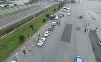Anadolu Otoyolu'nda drone destekli yol uygulaması