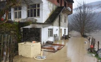 Yükselen baraj suları nedeniyle evleri su bastı
