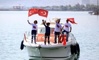 Atatürk'ün Samsun'da karaya çıkışı canlandırıldı