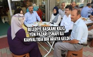 Belediye Başkanı Kılıç, Yün Pazarı Esnafı İle Kahvaltıda Bir Araya Geldi