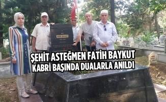 Şehit Asteğmen Fatih Baykut Kabri Başında Dualarla Anıldı
