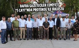 """Bafra Gazeteciler Cemiyeti """"5 Çayı""""nda Protokol İle Buluştu"""