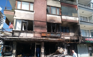 Kastamonu'da market yangını