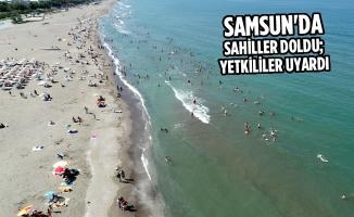 Samsun'da Sahiller Doldu; Yetkililer Uyardı