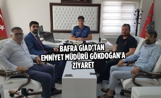 Bafra GİAD'tan Emniyet Müdürü Gökdoğan'a Ziyaret