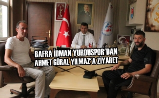 Bafra İdman Yurduspor'dan Ahmet Güral Yılmaz'a Ziyaret