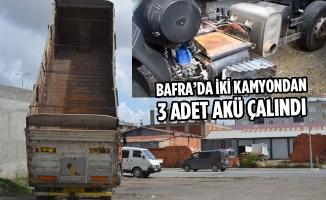 Bafra'da İki Kamyondan 3 Adet Akü Çalındı