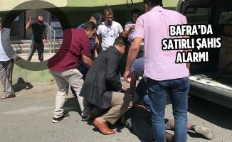 Bafra'da Satırlı Şahıs Alarmı