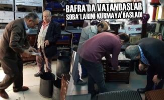 Bafra'da Vatandaşlar Soba'larını Kurmaya Başladı