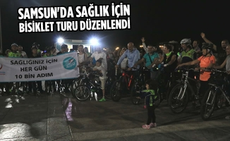 Samsun'da Sağlık İçin Bisiklet Turu Düzenlendi
