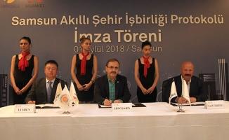 Turkcell ve Huawei Samsun'da Akıllı Şehir İçin İşbirliği Yaptı