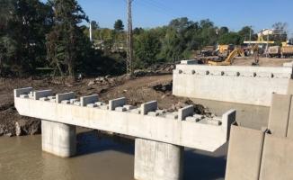 Ordu'daki selde yıkılan köprü ay sonunda ulaşıma açılacak