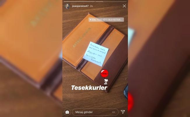 Trabzonsporlu Pereira'ya esnaftan jest