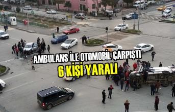 Samsun'da Ambulans İle Otomobil Çarpıştı: 6 Yaralı
