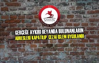 Samsun'da Gerçeğe Aykırı Beyana Para Cezası