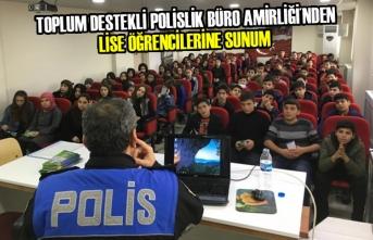 Toplum Destekli Polislik Büro Amirliği´nden Öğrencilere Sunum