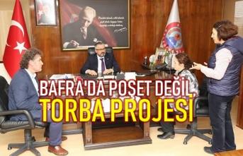 Bafra'da Poşet Değil, Torba Projesinin Adımlarını Sıklaştırıyor
