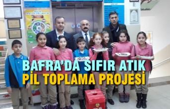 Bafra'da Sıfır Atık Pil Toplama Projesi