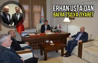 Erhan Usta'dan Bafra Ticaret Odasına Ziyaret
