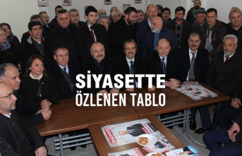 Hayati Tekin; Erhan Usta'nın Seçim Bürosu'nu Ziyaret Etti