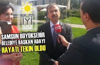 İYİ Parti Büyükşehir Başkan Adayı Hayati Tekin