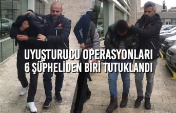 Uyuşturucu Operasyonları; 6 Şüpheliden Biri Tutuklandı