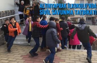 Altınyaprak İlkokulu'nda Sivil Savunma Tatbikatı