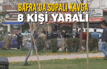 Bafra'da Sopalı Kavga: 8 Yaralı