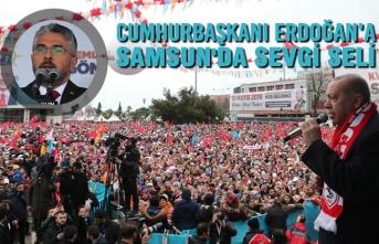 Cumhurbaşkanı Erdoğan'a Samsun'da Sevgi Seli