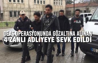 DEAŞ Operasyonunda Gözaltına Alınan 4 Zanlı Adliyeye Sevk Edildi