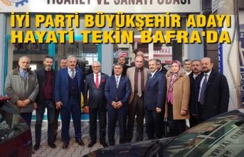 İYİ Parti Büyükşehir Adayı Hayati Tekin Bafra'da